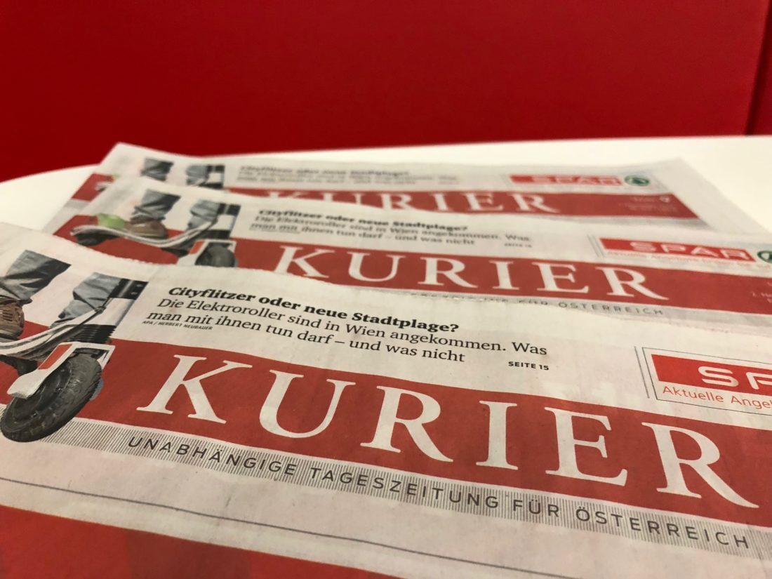 Die Tagesezeitung Kurier konnte im September online punkten. Foto: Stefan Binder (C)